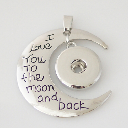 Snap Jewelry Pendant - I love you to the moon and back