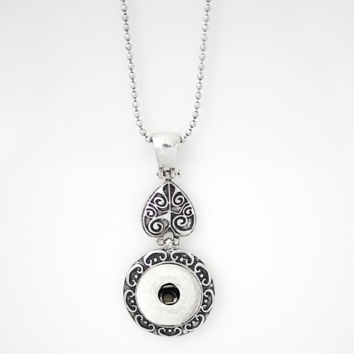 Snap Jewelry Pendant Necklace - Heart