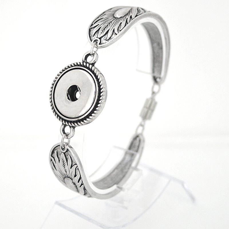 Snap Jewelry Magnetic Bracelet - Spoon Style Peacock - Large