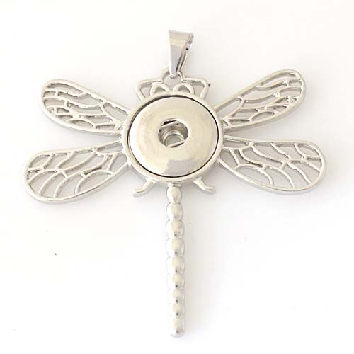 Snap Jewelry Pendant Dragonfly