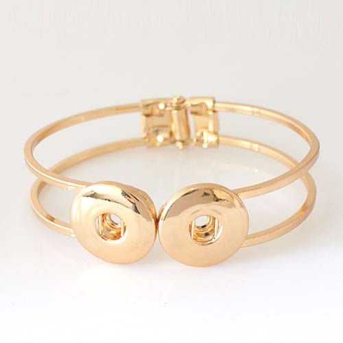 Snap Jewelry Hinge Bangle - Double Gold