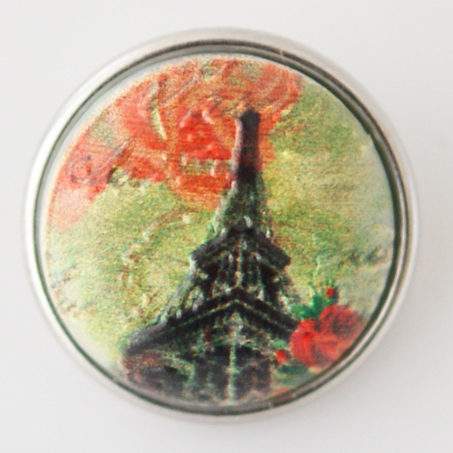 Snap Jewelry Glass - Eiffel Tower