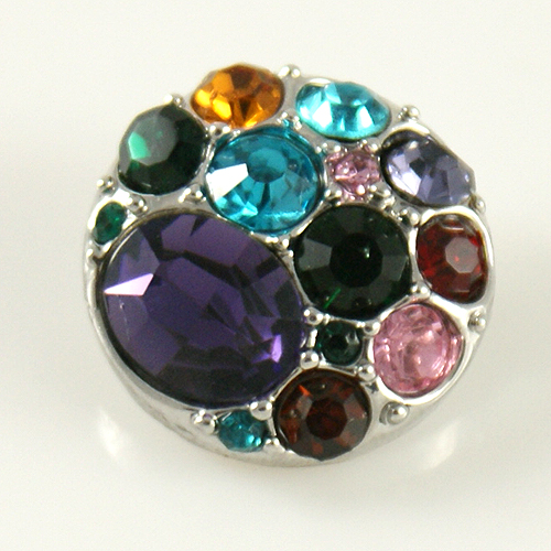 Snap Jewelry Rhinestone - Cluster - Multi Purple & Colors