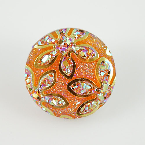Snap Jewelry Resin - Iridescent Flower - Orange