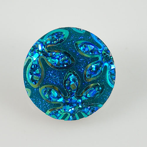 Snap Jewelry Resin - Iridescent Flower - Light Blue