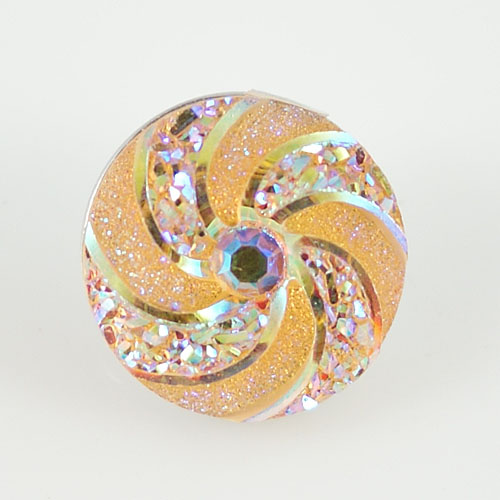 Snap Jewelry resin - Iridescent Spiral Orange