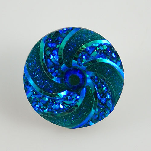 Snap Jewelry resin - Iridescent Spiral Blue