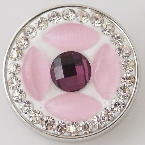 Snap Jewelry Stone - Purple, Light Pink & CZ Clear