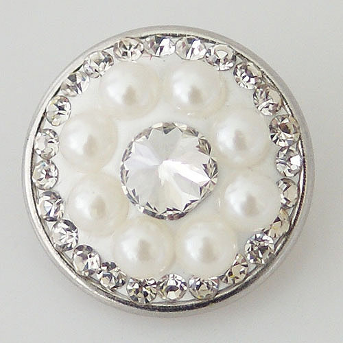 Snap Jewelry Pearl - Cluster Mini White and CZ