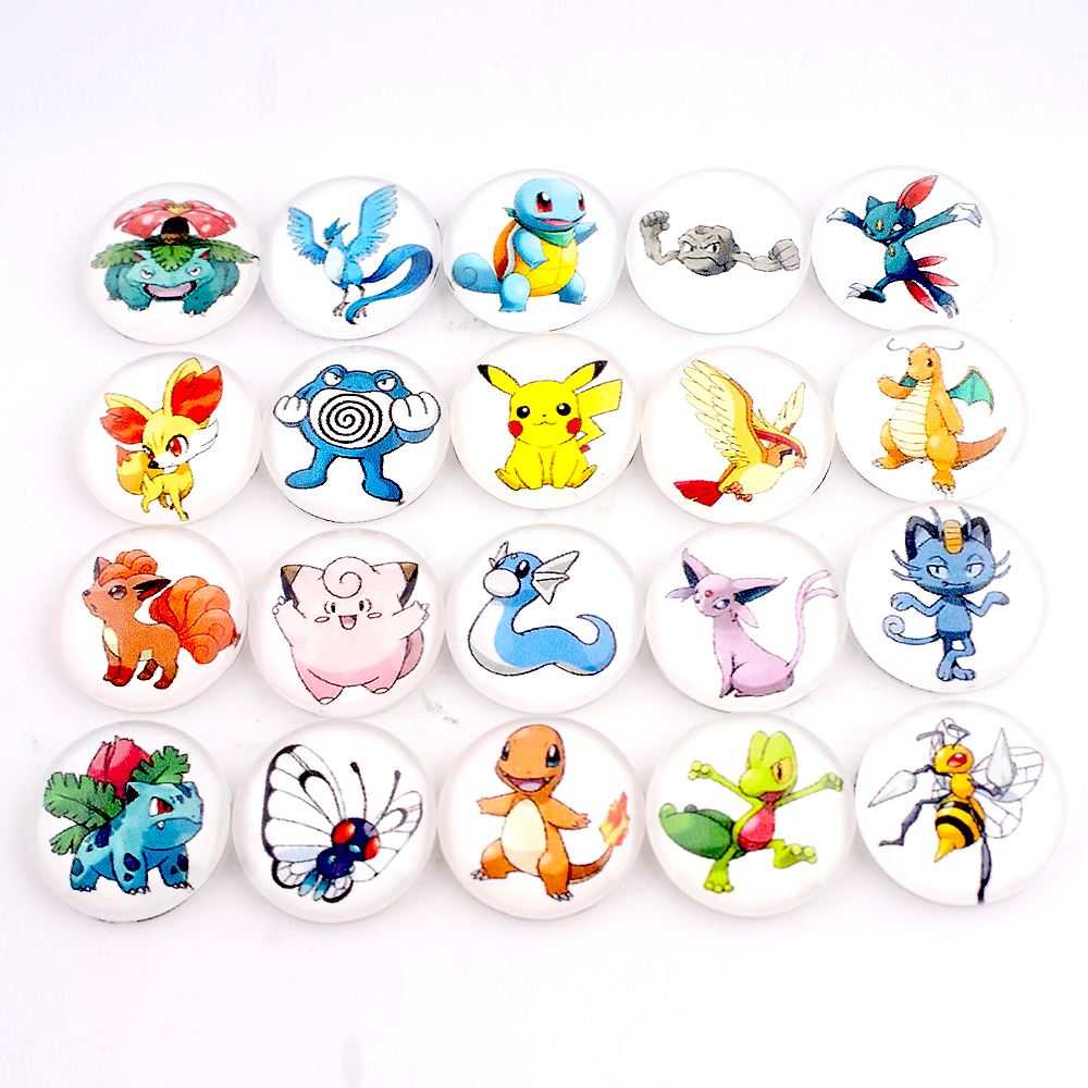 Snap Glass Jewelry - Pokeman Character Mix