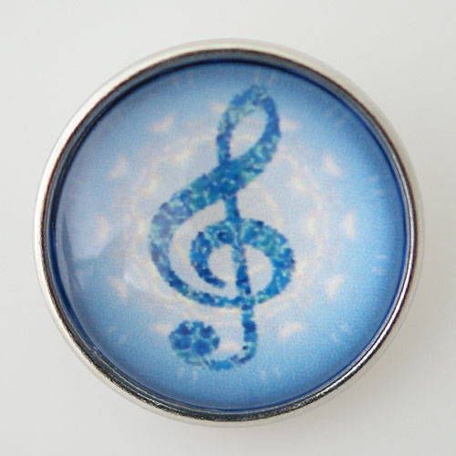 Snap Jewelry Glass - Music Note
