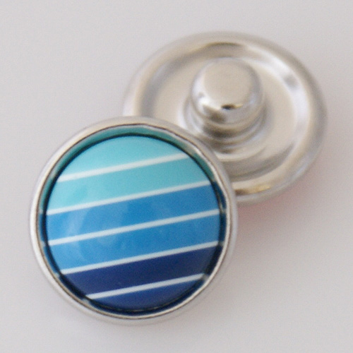 Mini Snap 12mm - Gemstone Lines of Blue