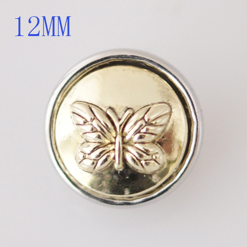 Mini Snap 12mm - Metal Gold Butterfly