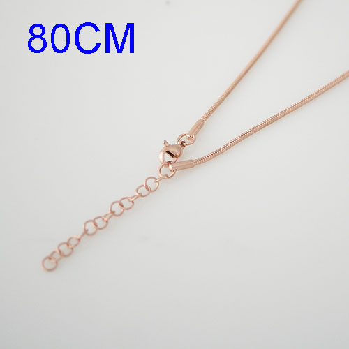 Stainless Steel Snake Chain - 32 inches Rose Gold