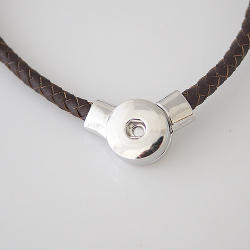 Snap Jewelry Magnetic Necklace - Brown