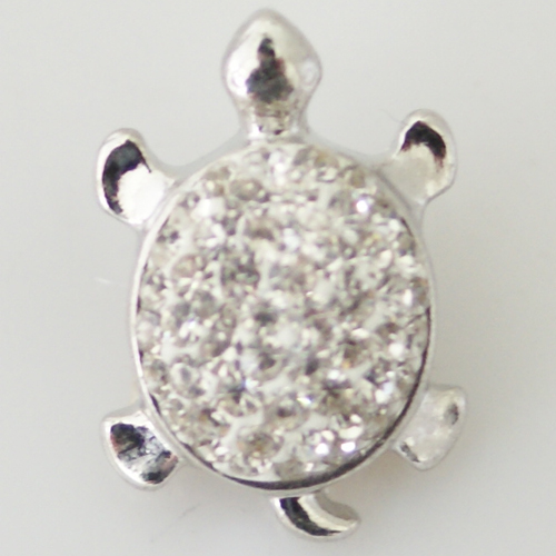 Snap Jewelry Rhinestone - Turtle Clear