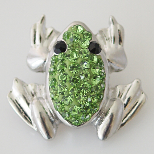 Snap Jewelry Rhinestone - Frog Green