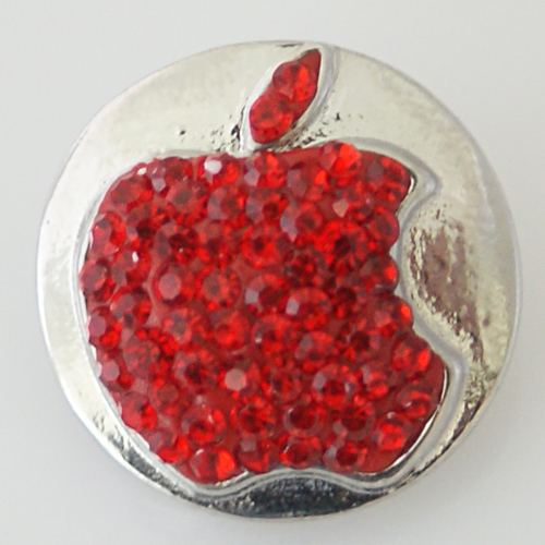 Snap Jewelry Rhinestone - Apple Red