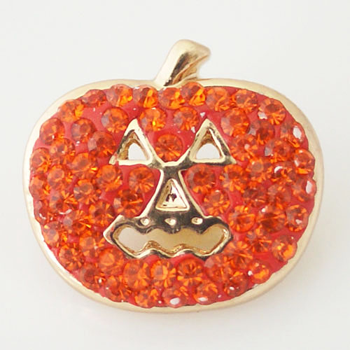 Snap Jewelry Rhinestone - Pumpkin Halloween