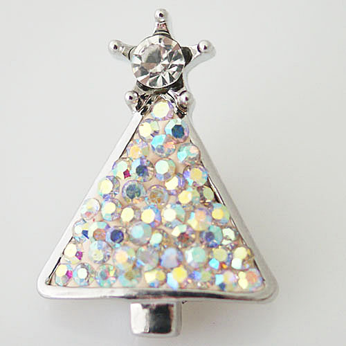 Snap Jewelry Rhinestone - Christmas Tree AB