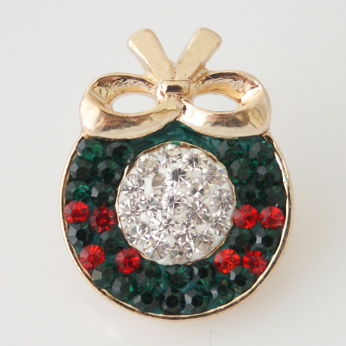 Snap Jewelry Rhinestone - Christmas Wrealth