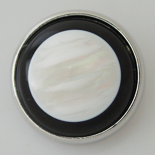 Snap Jewelry Stone - Mother of Pearl Black Rim