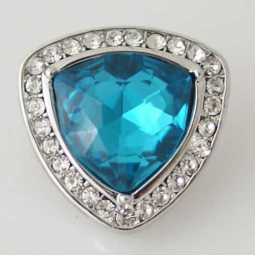 Snap Jewelry Rhinestone - Triangle Blue & Clear