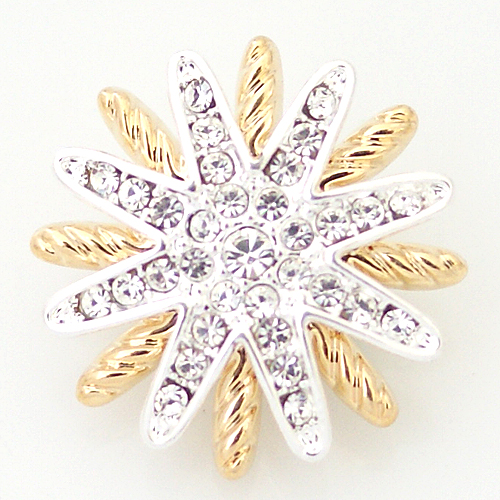 Snap Jewelry Rhinestone - Star Gold & Silver Holiday