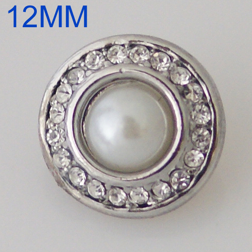Mini Snap 12mm - Pearl Halo Clear
