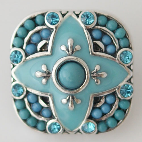 snap Jewelry Gemstone - Light Blue