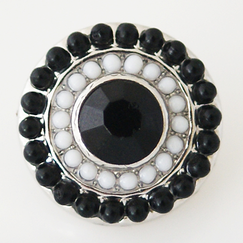 Snap Jewelry Gemstone - Black & White