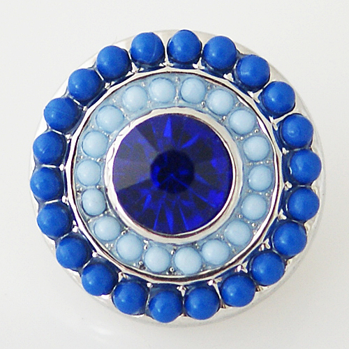 Snap Jewelry Gemstone - Blue & Light Blue