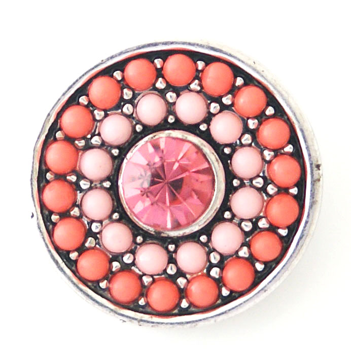 Snap Jewelry Rhinestone - Dots Pink with Pink Rhinestone