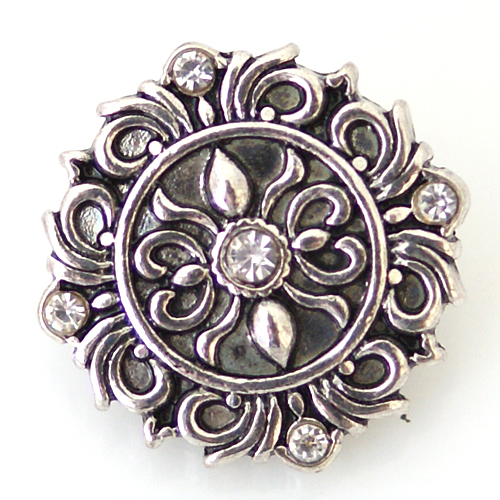 Snap Jewelry Rhinestone - Antique Designer Clear
