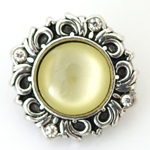 Snap Jewelry Gemstones - Cats Eye Scroll - Yellow