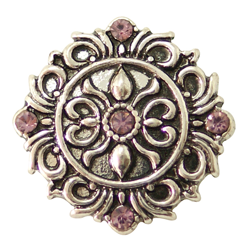 Snap Jewelry Rhinestone - Antique Designer Lavender