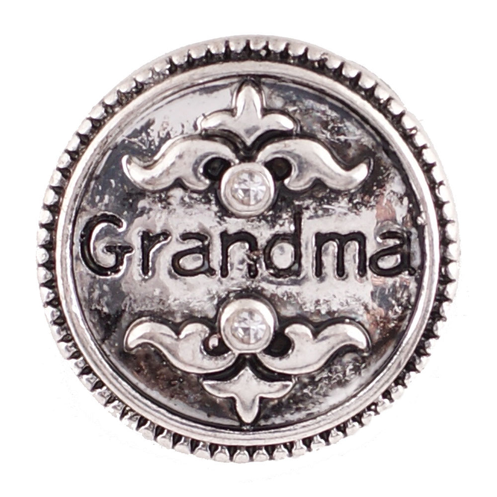 Snap Jewelry Metal - Grandma