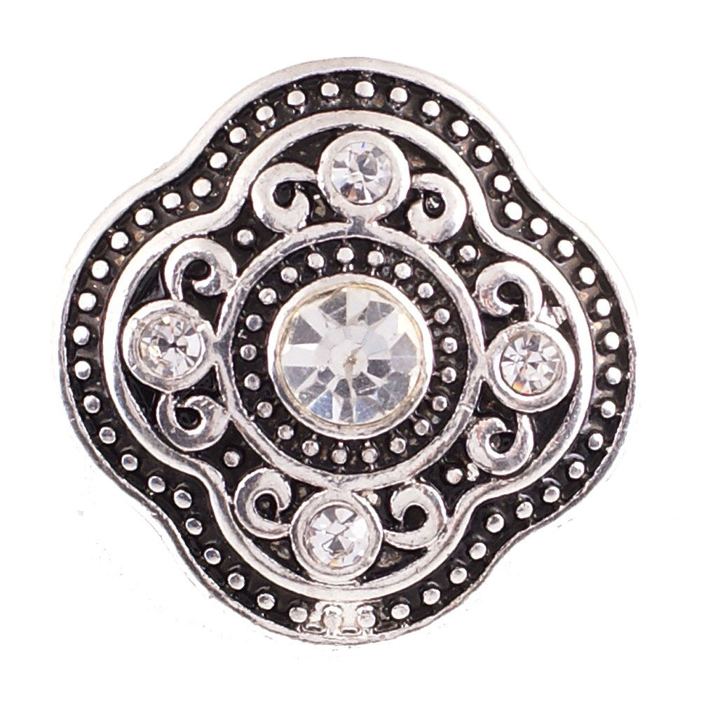 Snap Jewelry Rhinestone - Antique Designer Clear Stones