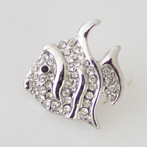 Snap Jewelry Rhinestone - Fish