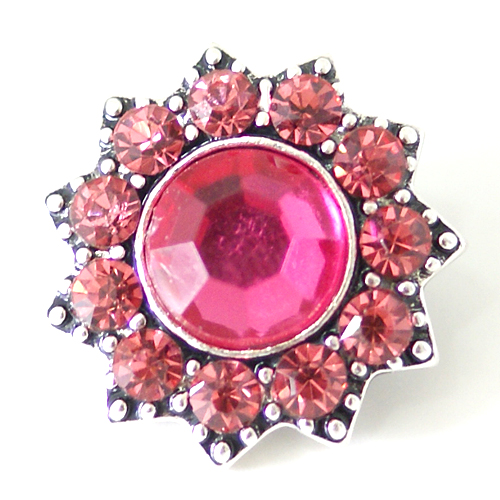 Snap Jewelry Rhinestone - Designer Faceted Pink