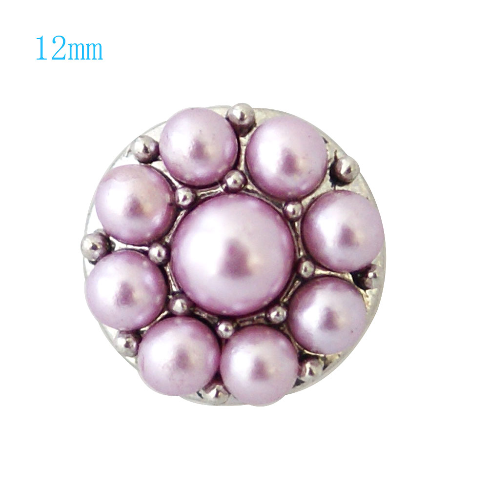 Mini Snap 12mm - Pearl Cluster Pink