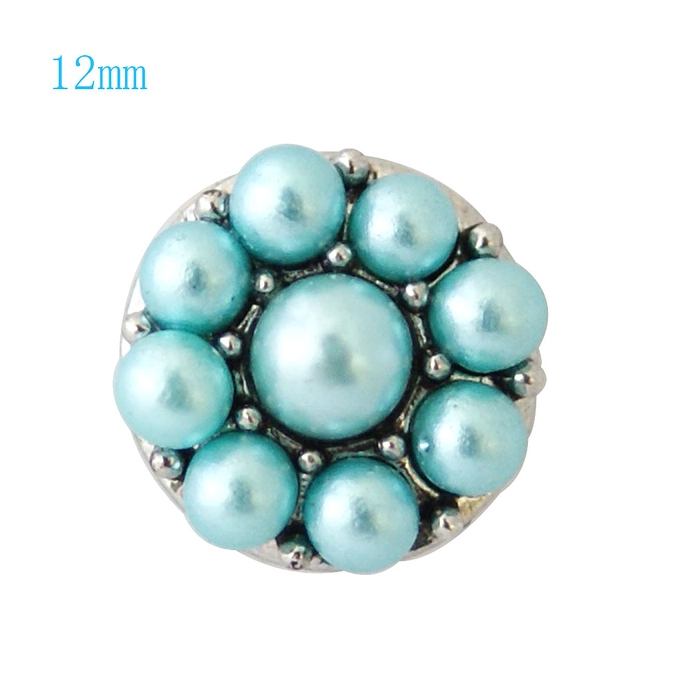 Mini Snap 12mm - Pearl Cluster Blue