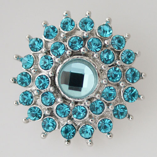 Snap Jewelry Rhinestone - Faceted Circle Cluster - Lt. Blue