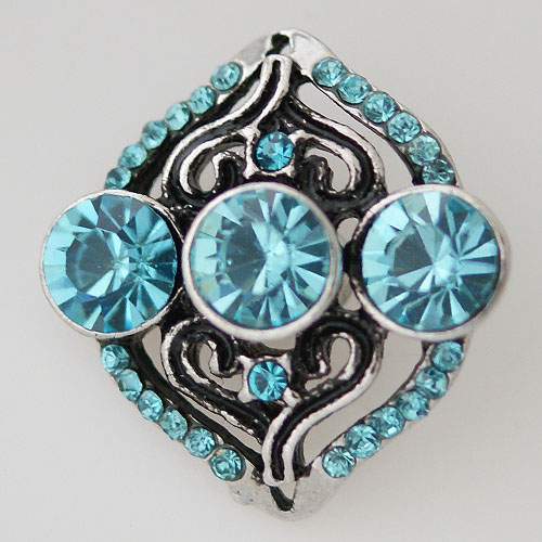Snap Jewelry Rhinestone - Antique Designer Light Blue