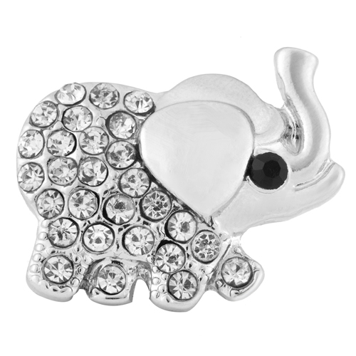 Snap Jewelry Rhinestone - Elephant Clear