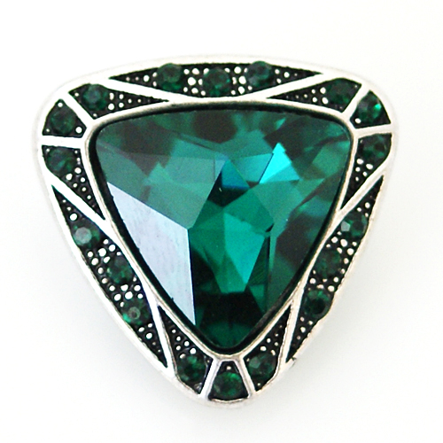 Snap Jewelry Rhinestone - Triangle Emerald Green
