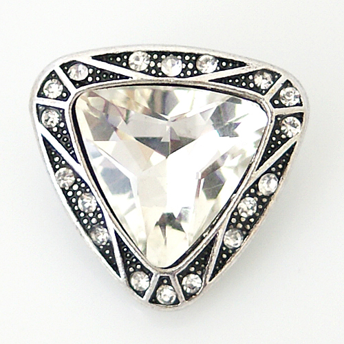 Snap Jewelry Rhinestone - Triangle Clear