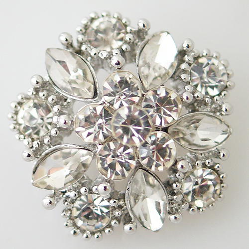 Snap Jewelry Rhinestone - Cluster Clear
