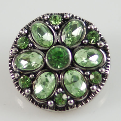 Snap Jewelry Rhinestone - Green Design