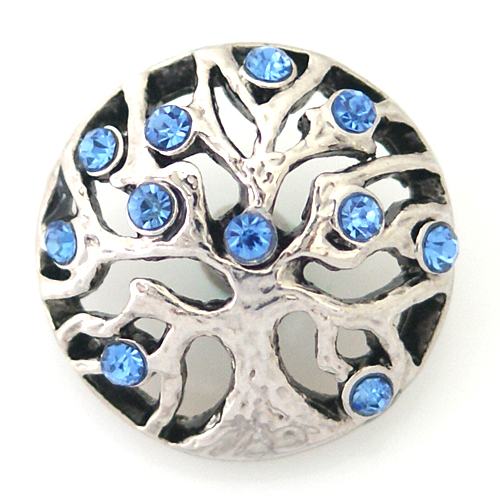 Snap Jewelry Rhinestone - Tree of Life Blue